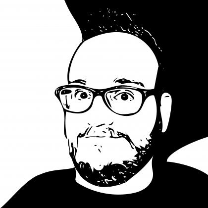 David Jones in black/white ink