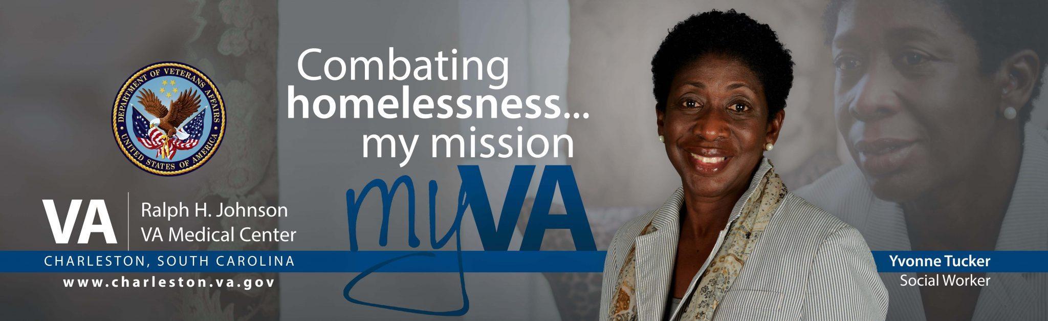 Yvonne Tucker, Homeless Care Team Social Worker billboard