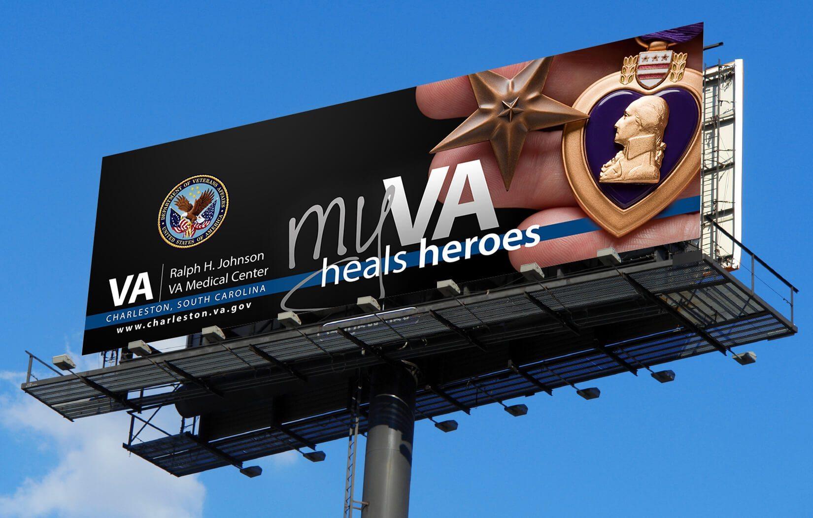 myVA Heals Heroes Billboard